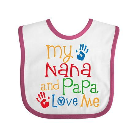 Love Baby Bib (Nana And Papa Love Me Grandchild Baby)