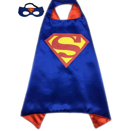 Hero Halloween Costumes (Adult Size Superhero or Princess CAPE & MASK SET Halloween Costume Cloak &)