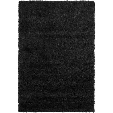safavieh machine made shag area rug walmartcom california shag black 4 ft