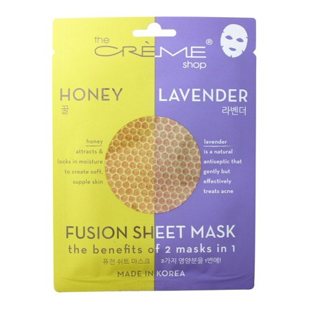 The Creme Shop - 2 in 1 Honey Lavender Fusion Facial Sheet Mask - 1 Count ()