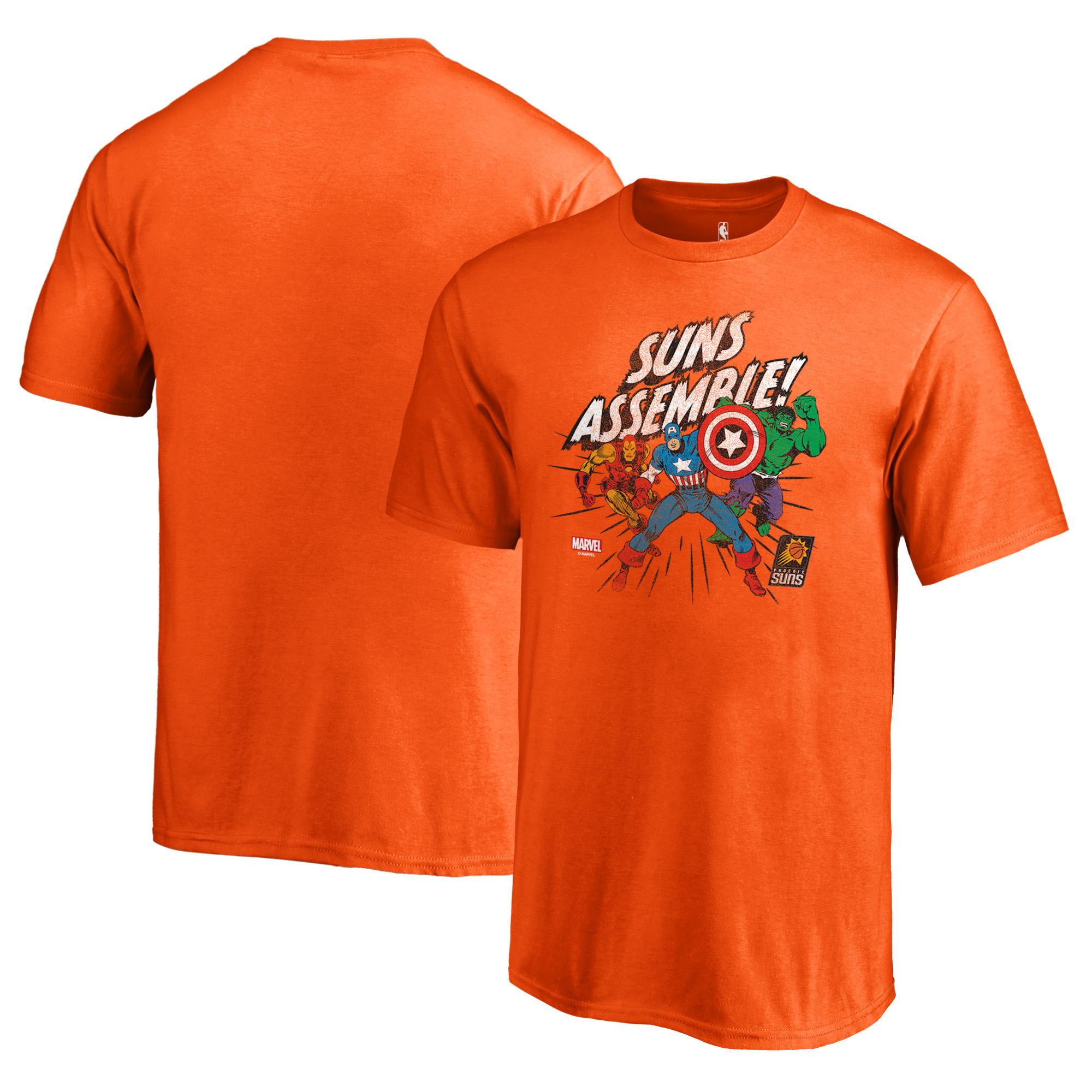 Phoenix Suns Fanatics Branded Youth Marvel Avengers Assemble T-Shirt - Orange