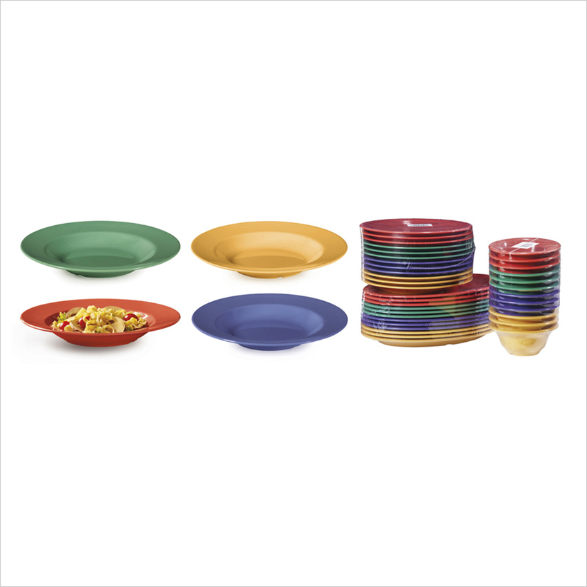 Diamond Mardi Gras 16 oz 11.25 x 1.75 Bowl Mix Pack of 4 Mardi Gras Colors Melamine/Case of 12