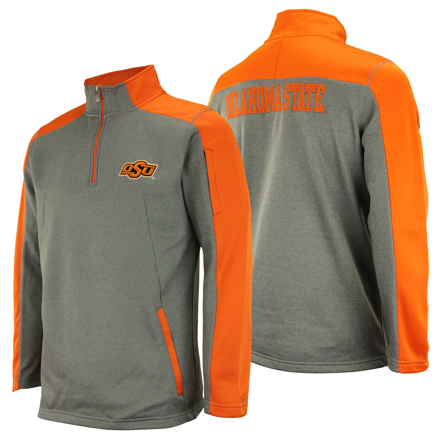 OuterStuff NCAA Men's Oklahoma State Cowboys Performance Poly Fleece 1/4 Zip, Orange