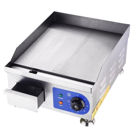 Yescom 1500W 14u0022 Commercial Electric Griddle Countertop w/ 4 Feets Restaurant