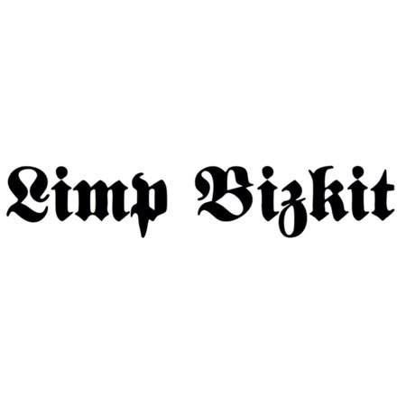 Limp Bizkit - Black Logo - Cutout Decal (Limp Bizkit The Unquestionable Truth Part 2)