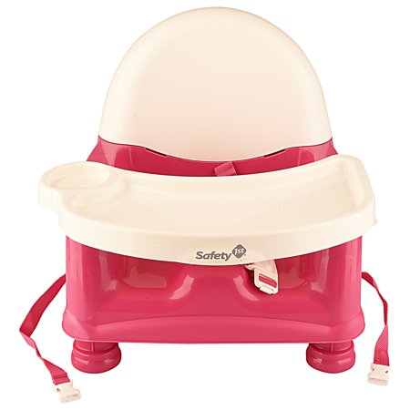 safety 1st easycare pink booster seat with removable tray. Black Bedroom Furniture Sets. Home Design Ideas