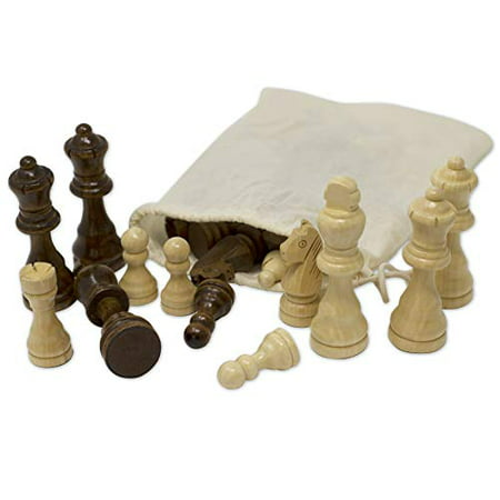 Staunton Chess Pieces by GrowUpSmart with Extra Queens   Size: Medium - King Height: 3 inches   Wood - image 4 of 4