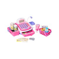 Dash Toyz Pretend Play Electronic Toy Cash Register Toy with Mic Speaker,Money