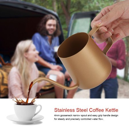 350 ml Stainless Steel Gooseneck Pour Over Drip Coffee Maker Tea Coffee Cup Pot , Stainless Steel Coffee Kettle,Teapot Tea Pot Drip