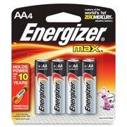 Energizer Max Alkaline Aa Batteries - Aa - Alkaline (e91bp4ct)