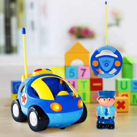 Kids Remote Control Car Rc Cartoon Race Car Vehicle With Pull Back