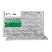AFB Silver MERV 8 16x25x1 Pleated AC Furnace Air Filter. Pack of 2 Filters. 100% produced in the USA.