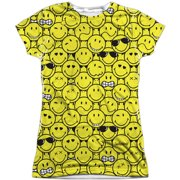 Smiley  Smile Pile Girls Jr Sublimation White