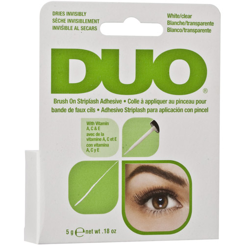 Duo Brush On Striplash Adhesive, White/Clear, 0.18 oz