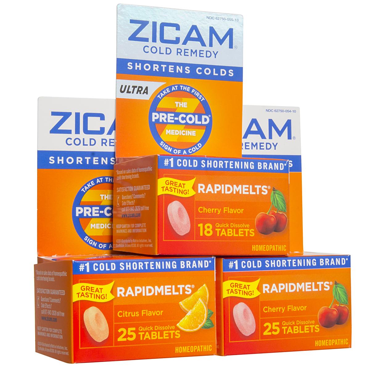 3 Bottles Of Zicam Cold Remedy Rapidmelts Tablets Zinc Lozenges