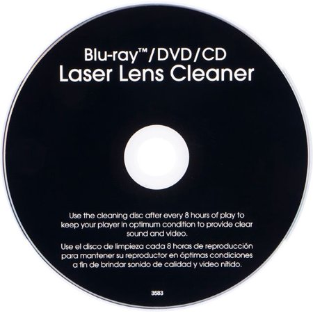Dvd Head Cleaner (Onn Blu-Ray/DVD/CD Laser Lens)