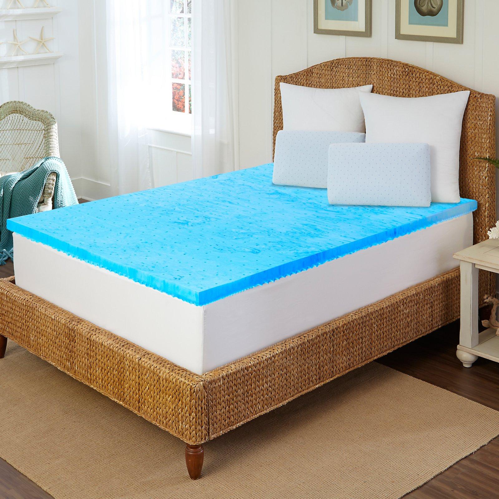Arctic Sleep By Pure Rest 5 Zone Marbleized Gel Memory Foam Topper