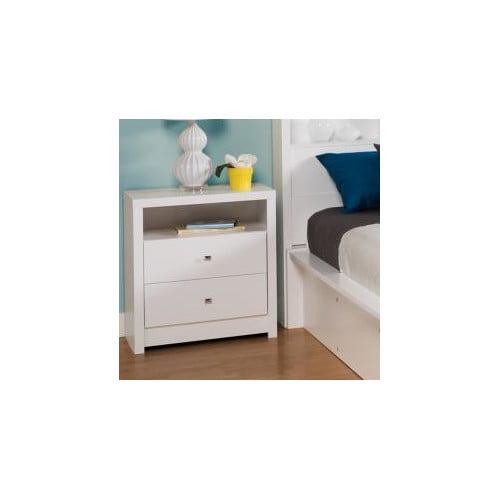 Prepac Calla 2-Drawer Tall Nightstand, White by Prepac Manufacturing Ltd