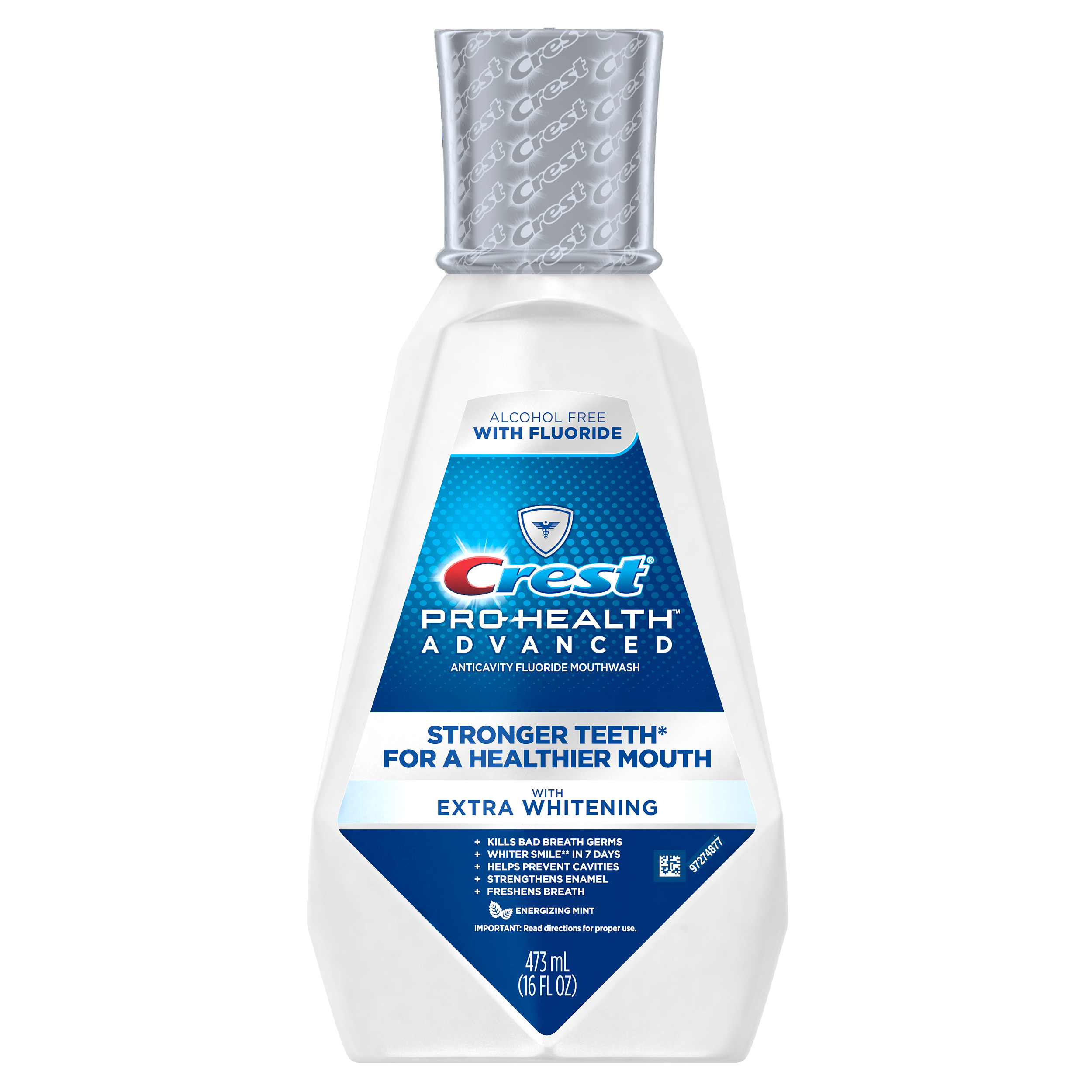 Crest Pro-Health Advanced Mouthwash with Extra Whitening, Energizing Mint Flavor, 16 fl.oz.