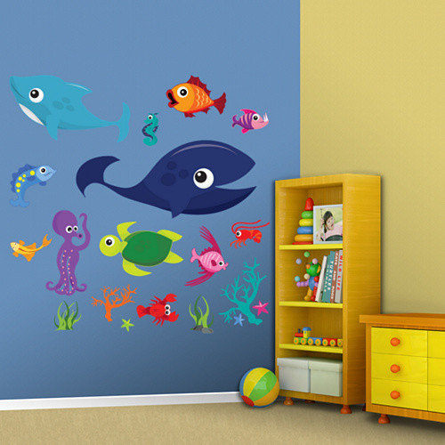 Fathead Sea Creatures Group One Wall Decal