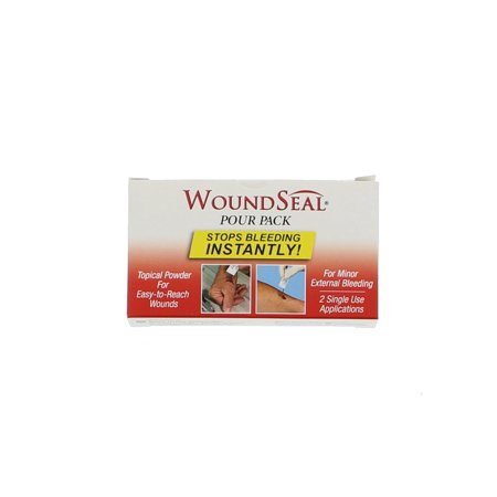 First Aid Only 90358 WoundSeal Blood Clot Powder, Pour Packs,