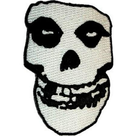 Crimson Embroidery - The Misfits - Crimson Ghost Skull 2 1/8