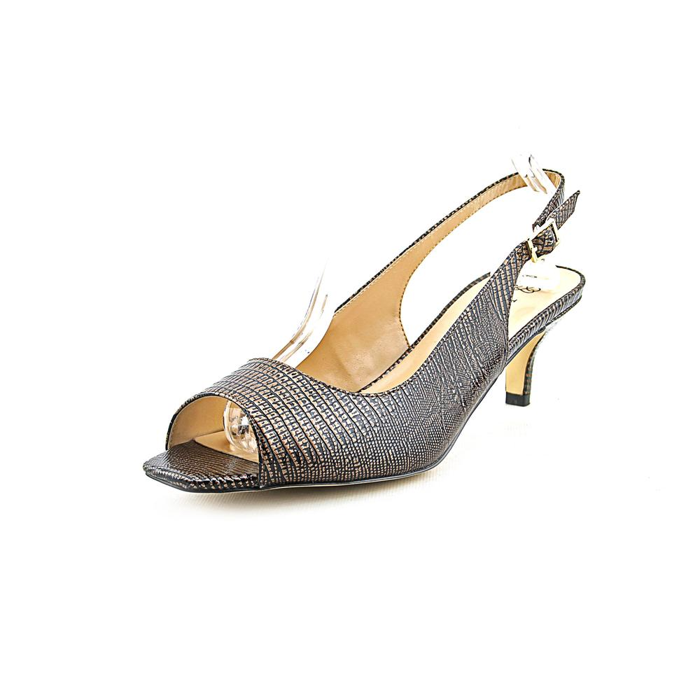 J. Renee Classie Women Peep-Toe Synthetic Brown Slingback Heel by J. Renee