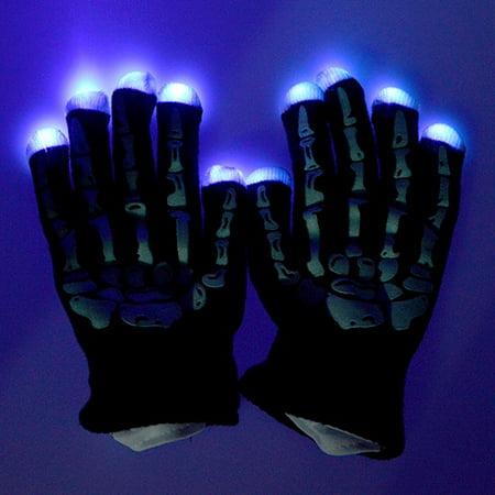 ABLEGRID Rave Gloves LED Finger Light up Gloves for Kids Adults?7 Mode Amazing Flash Lights Glove for Rave Party Light Show Concert - Best Halloween Christmas Gift - Led Finger Light