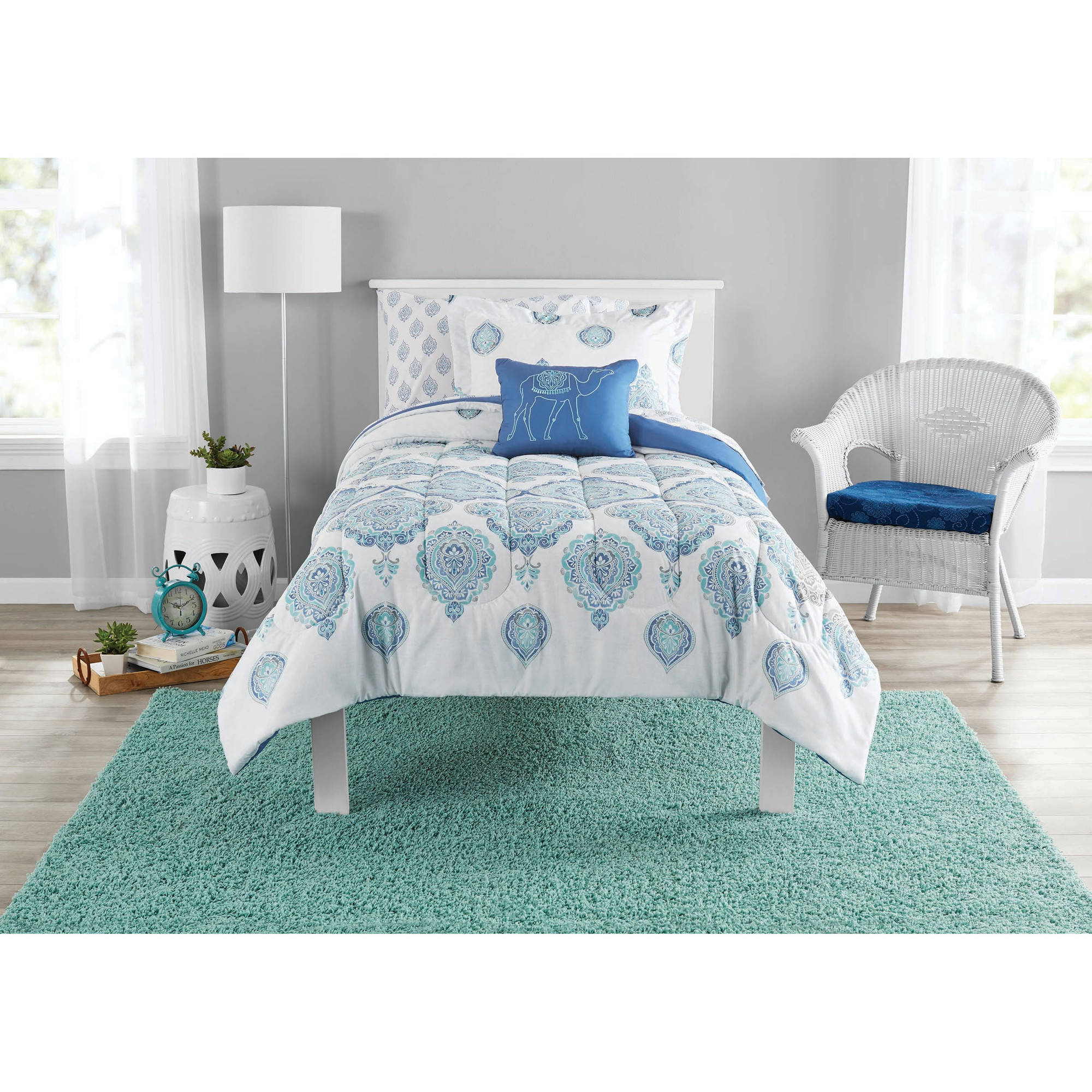 Mainstays Bed-In-A-Bag Arabesque Bedding Set