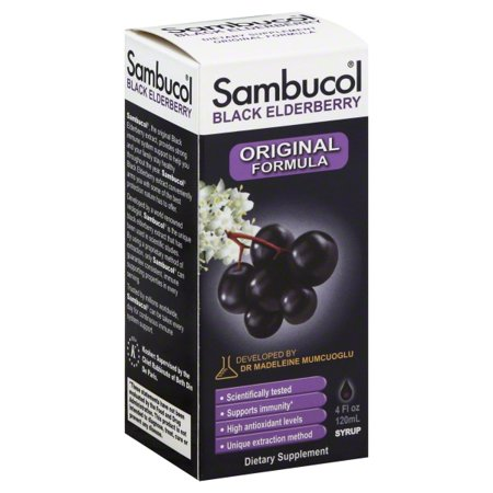Sambucol Black Elderberry Original Formula Dietary Supplement Syrup, 4 fl (Best Organic Elderberry Syrup)