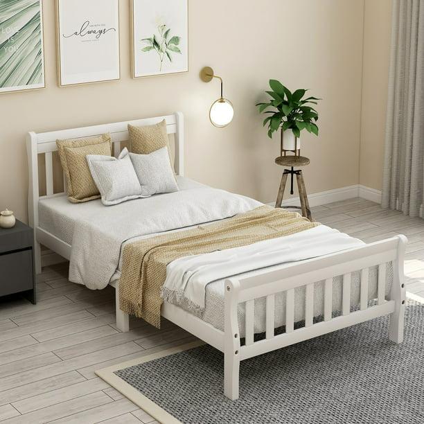 Twin-XL No Box Spring Needed Platform Bed Frames
