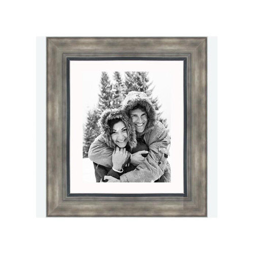Frames By Mail 8'' x 10'' Hammered Frame in Smokey Silver