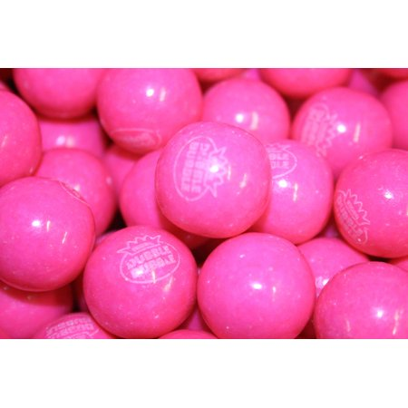 BAYSIDE CANDY GUMBALLS PINK LEMONADE BUBBLE GUM 25mm or 1 inch , 1LB](Candy Gum)