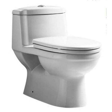 1 Pc Dual Flush Elongated Toilet Walmart Com