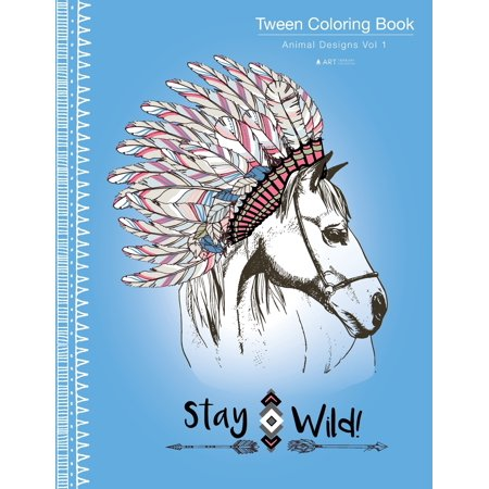 Tween Coloring Book : Animal Designs Vol 1: Colouring Book for Teenagers, Young Adults, Boys, Girls, Ages 9-12, 13-16, Cute Arts & Craft Gift, Detailed Designs for Relaxation & Mindfulness ()