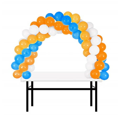 BalsaCircle White 12 feet Balloon Arch Stand Kit - Wedding Event Graduation Party Decorations - Decorations For Graduation Party