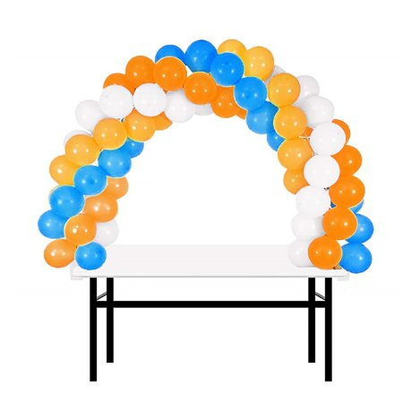 BalsaCircle White 12 feet Balloon Arch Stand Kit - Wedding Event Graduation Party Decorations Supplies - Party Supplies Tucson