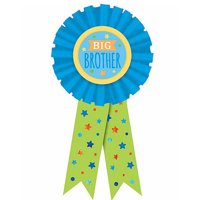 Baby Shower Blue 'Big Brother' Guest of Honor Ribbon (1ct)