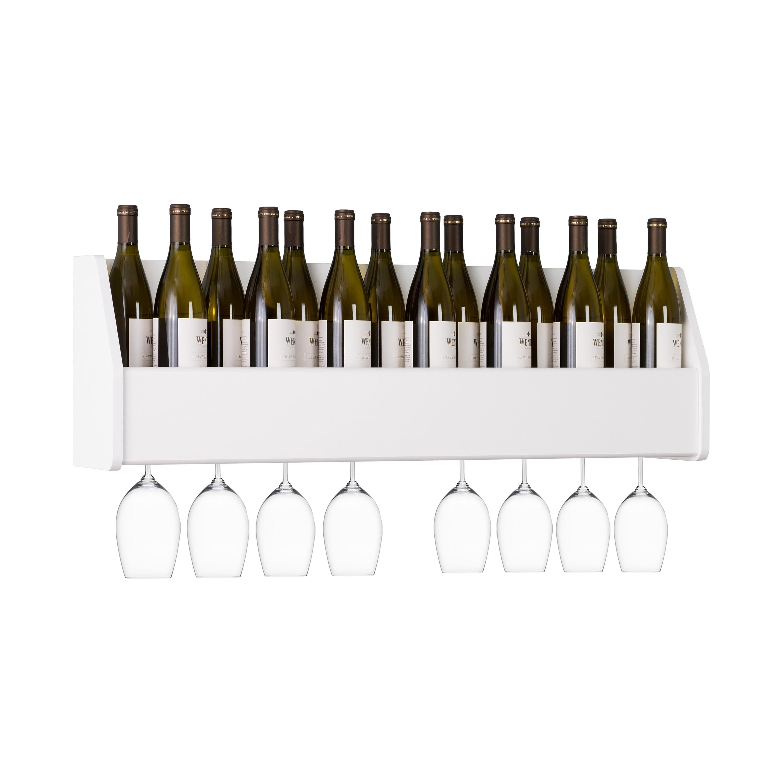 Floating Wine Rack, White by Prepac Manufacturing Ltd.