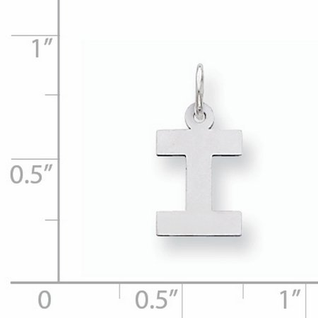 925 Sterling Silver Small Block Initial Monogram Name Letter I Pendant Charm Necklace Fine Jewelry For Women Gifts For Her - image 3 de 6