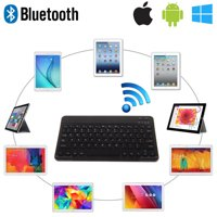"""EEEKit Wireless Bluetooth Keyboard, Bluetooth 3.0 Universal Keyboard For  9""""-10.1"""" Tablet Laptop Support IOS Android Windows System, Built-In Rechargeable Battery with LED indicators"""