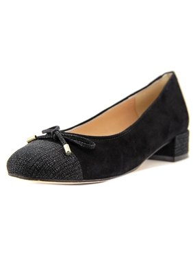 Andre Assous Vera Women  Round Toe Suede Black Flats