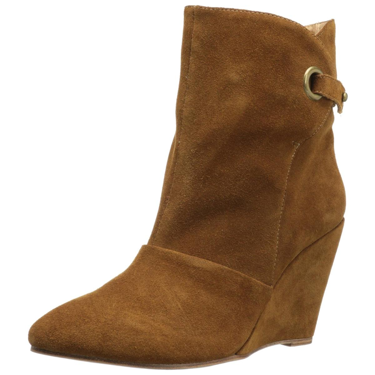 Madison Harding Women's Susan Women's Harding Brown Wedge Bootie dd4881