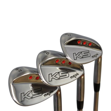 Majek Golf Senior Ladies Complete Wedge Set: 52° Gap Wedge (GW), 56° Sand Wedge (SW), 60° Lob Wedge (LW) Right Handed Ladies Flex Steel Shaft with Premium Arthritic Ladies Golf
