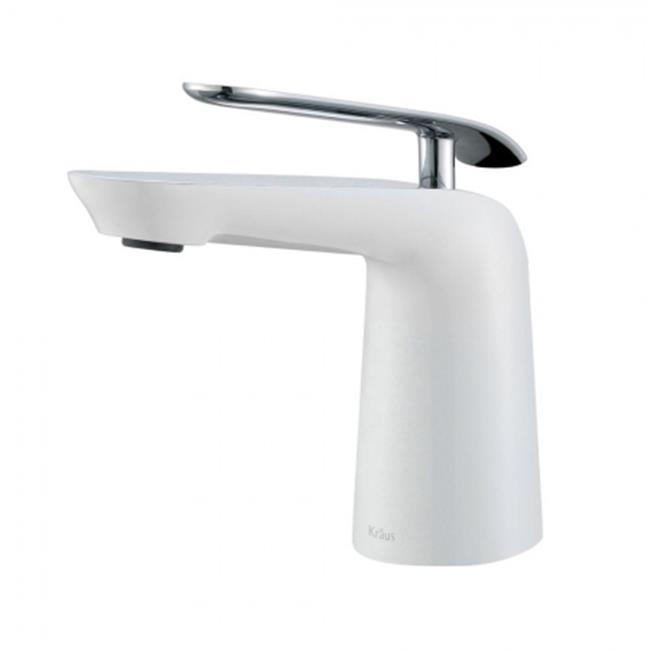 Kraus Fus 1821ch Wh Seda Single Hole Handle Basin Bathroom