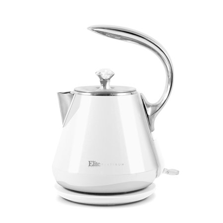 Elite Platinum EKT-1203W 1.2L Cool-Touch Stainless Steel Electric Kettle - White ()