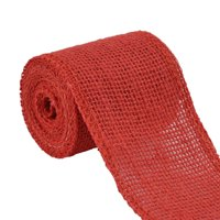 Unique Bargains 2.2 Yard Red Wedding Jute Belt Cord Rope Gift Tags String Wrap Strap Arts Craft Burlap Ribbon Roll