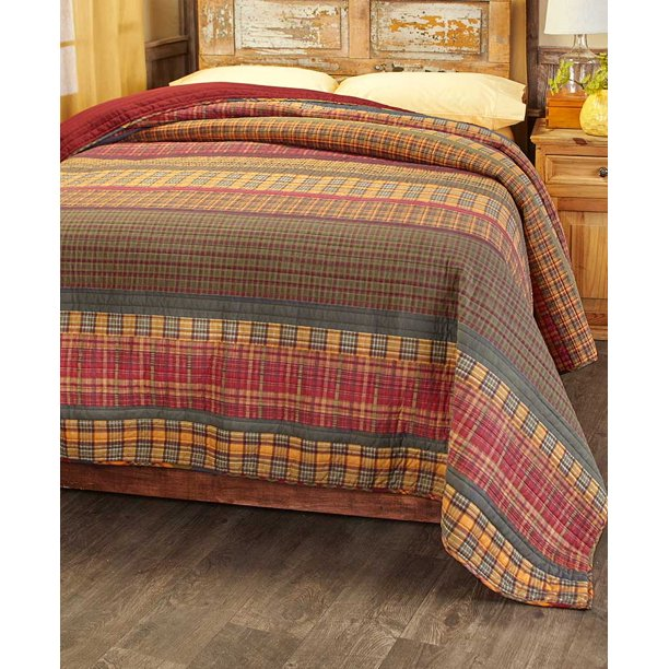 Gold Rush Oversized Plaid Quilt