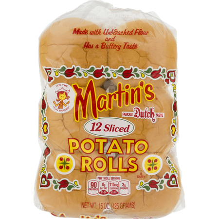 Martin's Sliced Potato Rolls- 12 pk 15 oz (2