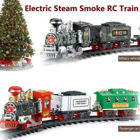 Rc Remote Control Electric Train Set With Smoke Battery Operated Railway RC Train and Accessories For Kid Children Baby Toy Gift (Toy And Hobby)